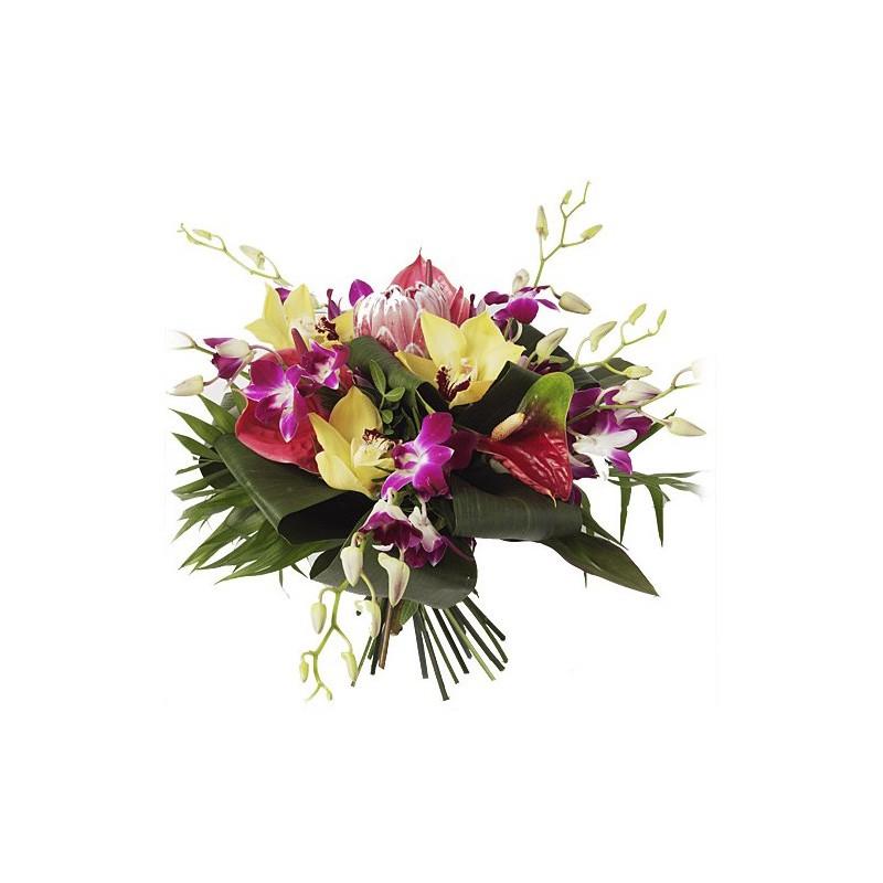 Bouquet de fleurs corail fleurs des les fleurs exotiques for Bouquet de fleurs raiponce